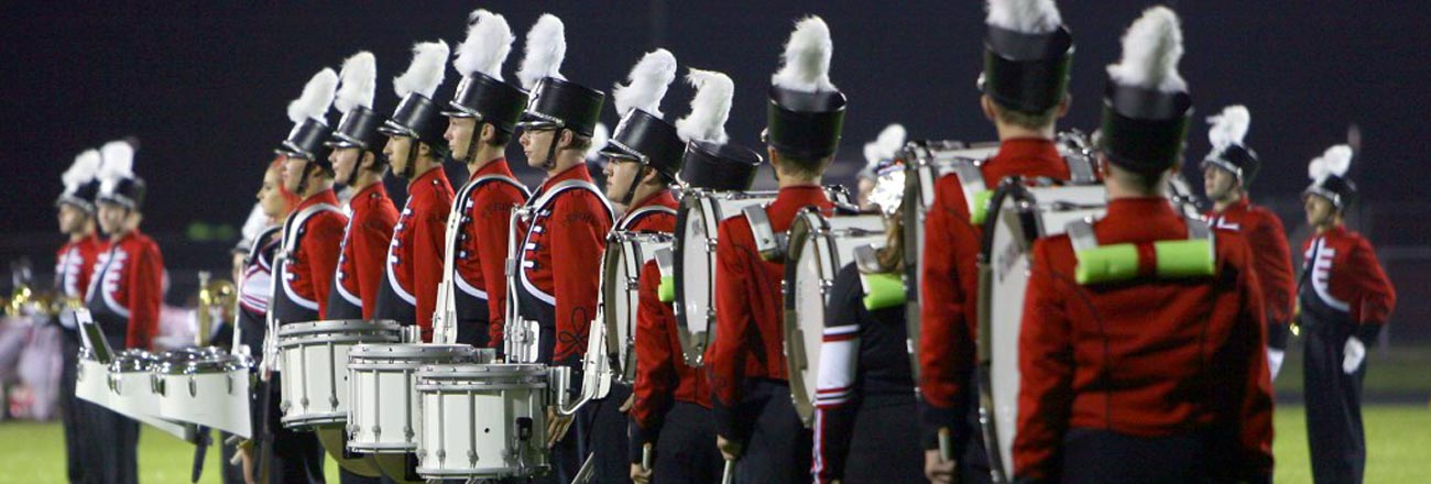 Band during a football game